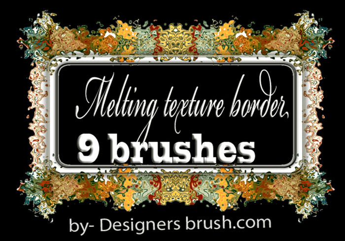 Melting texture border brush