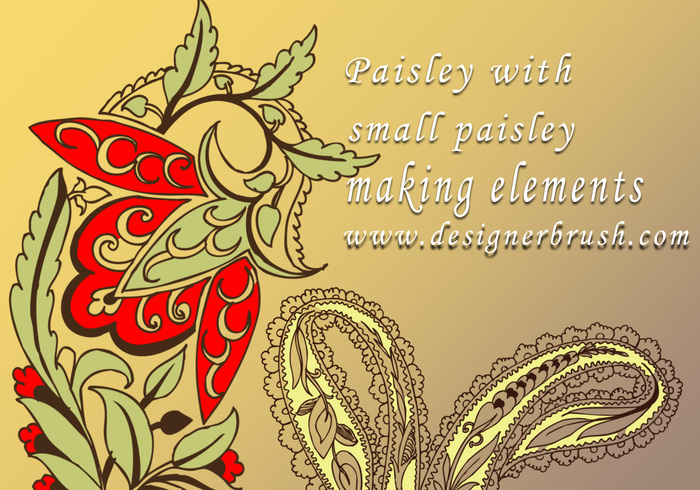 Paisley mit kleinem Paisley-Dekormotiv