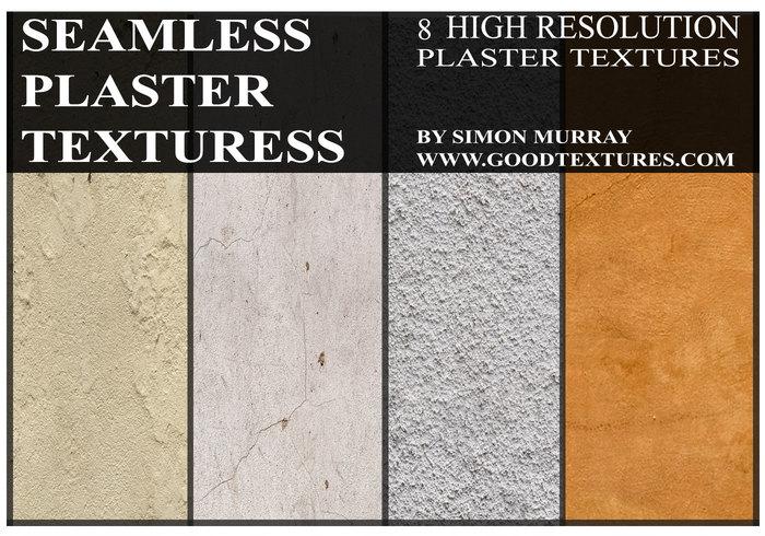 8 textures de plâtre sans soudure