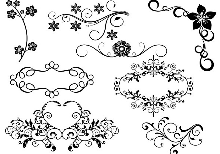 Decorative Brushes 087