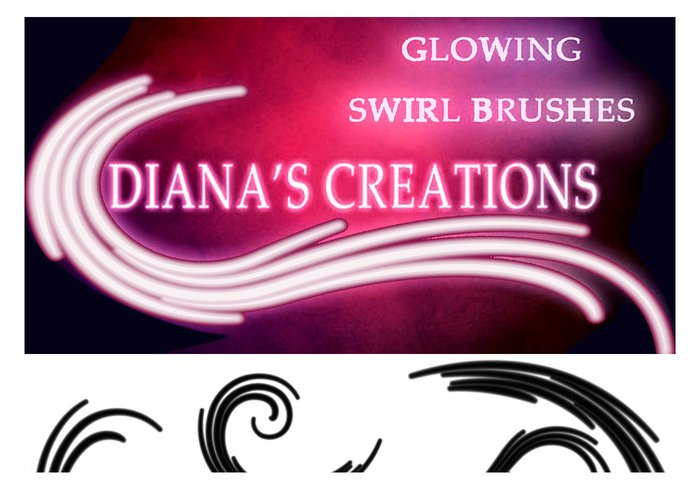 Glowing Swirl Brushes