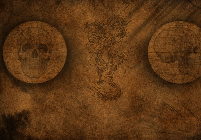 Old Paper Skull Wallpaper Texture