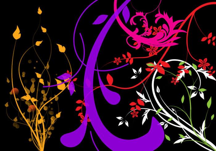 Pinceaux floraux