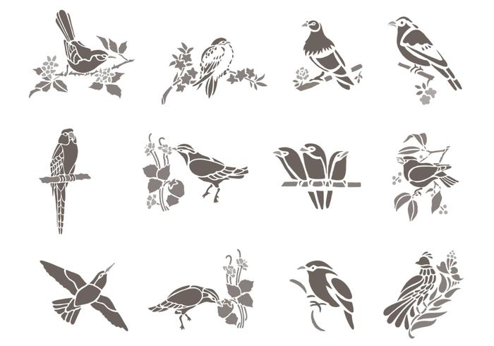 Floral Bird Brush Pack