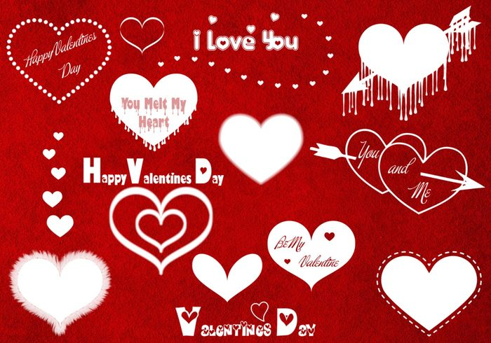Valentijnsdagborstels