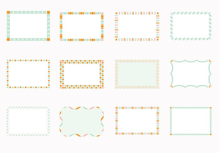 Funky Square Frames Brush Pack