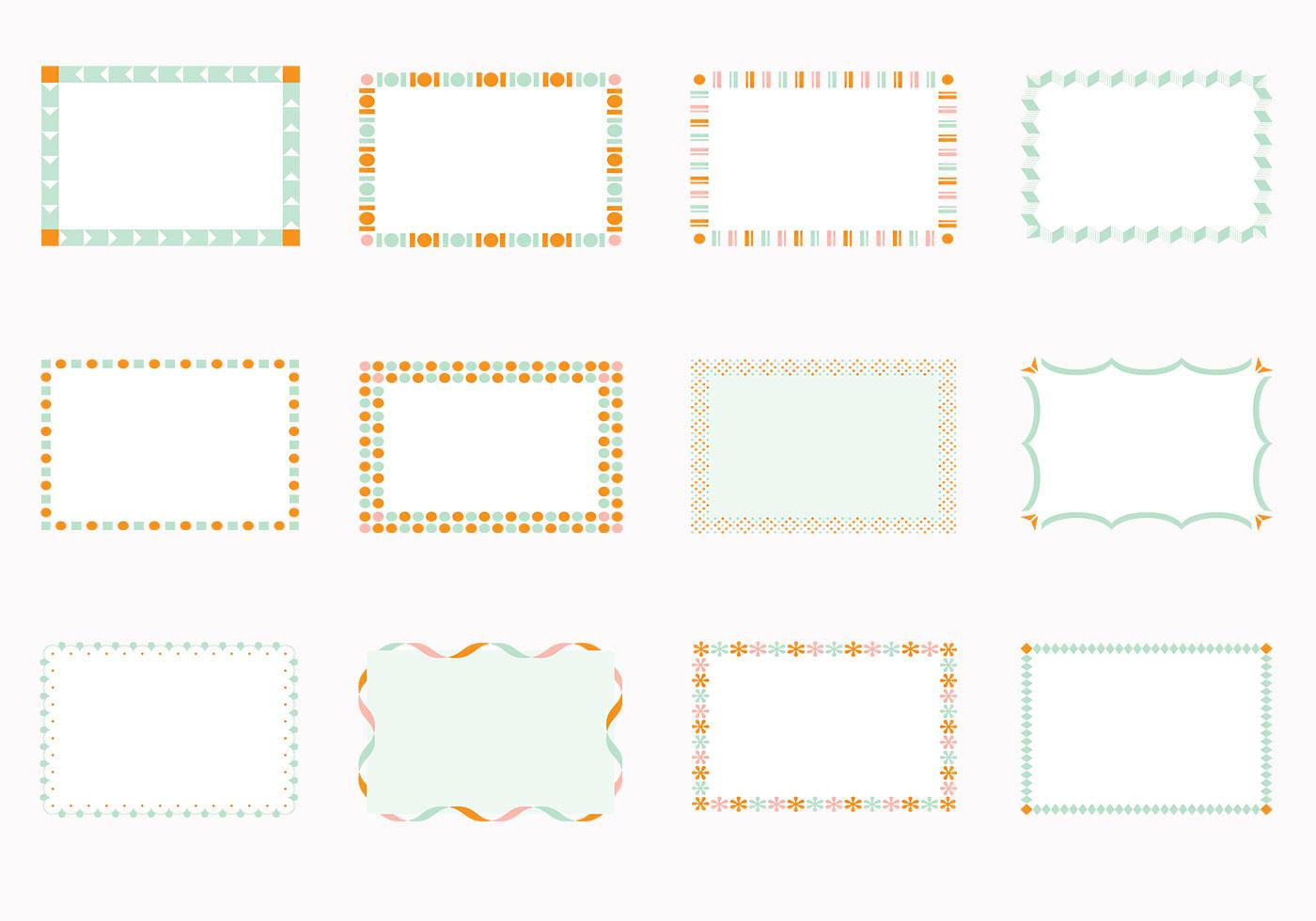 Funky quadratischen Rahmen Pinsel Pack - Kostenlose Photoshop-Pinsel ...