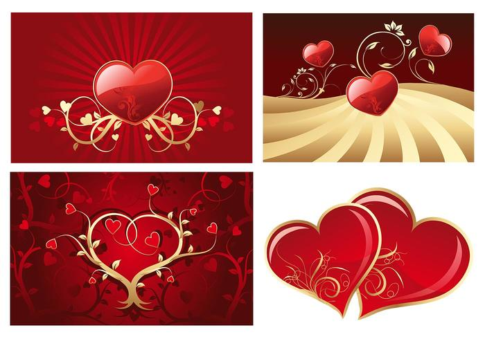 Valentijnsdag Hearts Photoshop Wallpaper Pack
