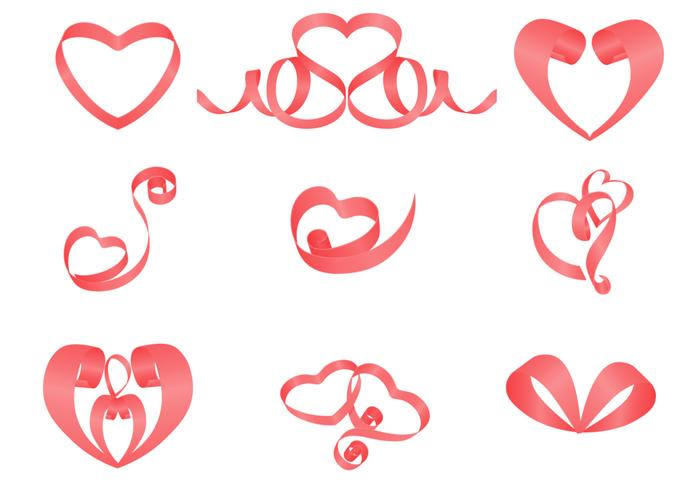 Ribbons Hearts Brush Pack
