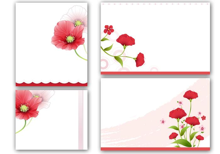 Poppies Tarjetas y Photoshop Wallpaper Pack