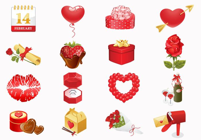 Valentinstag Icons Pinsel Pack