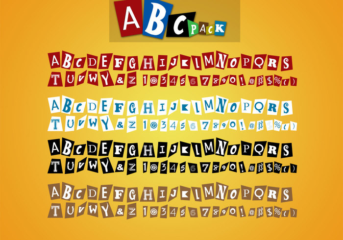 DBD | AbcPack PSD's - Magazine Lettering