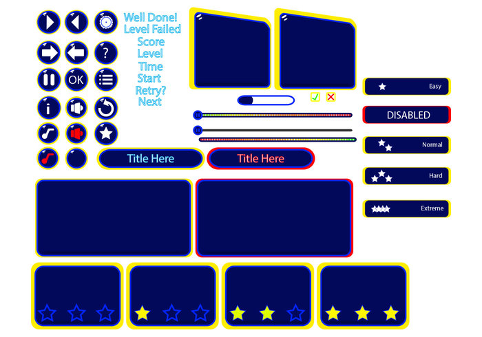 Game User Interface Shapes Pack