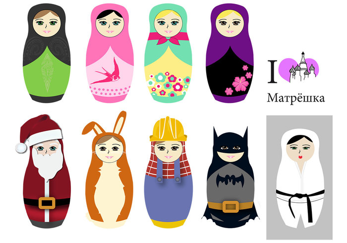 Matryoshka The Russian Doll Shapes