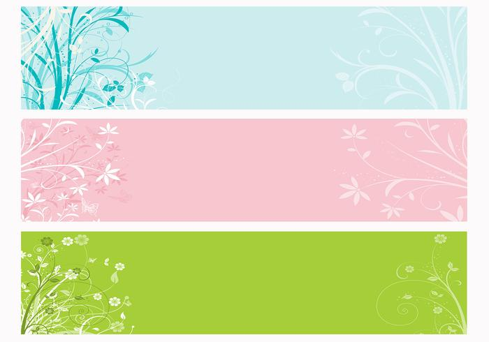 Spring Floral Photoshop Banner Pack
