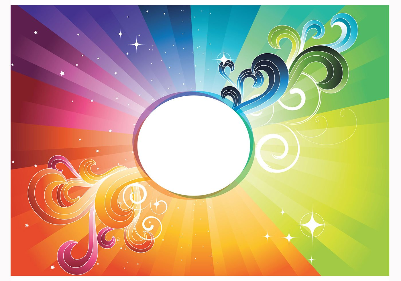Rainbow Abstract Wallpaper For Photoshop