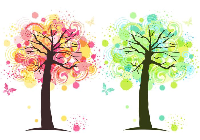 Tinte Splat Tree Photoshop Wallpaper Pack