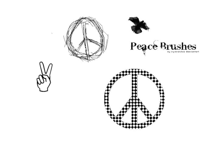 Peace Symbol Brush Pack