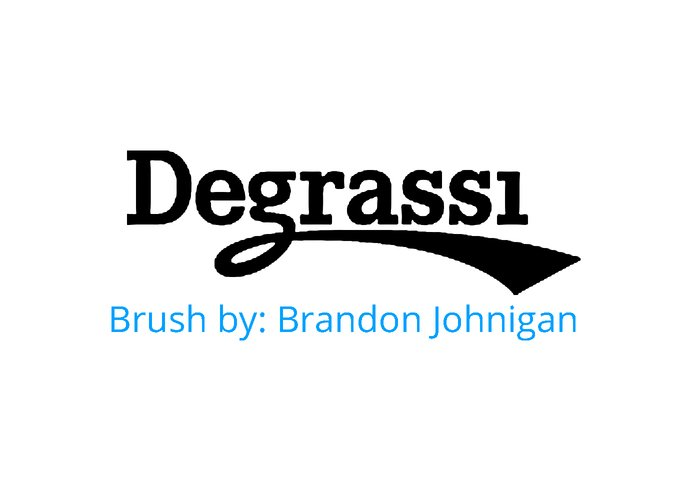 Degrassi Logo Brush