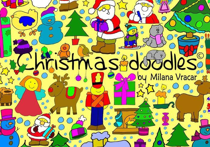 Christmas Brush Doodles Pack