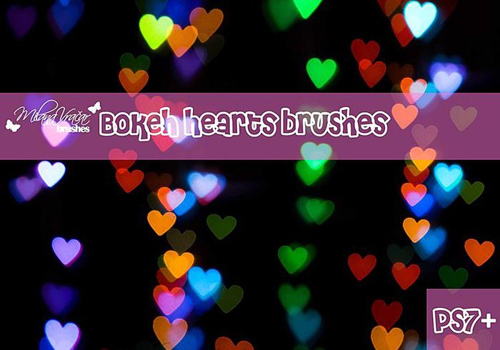 Bokeh Heart Brush Pack