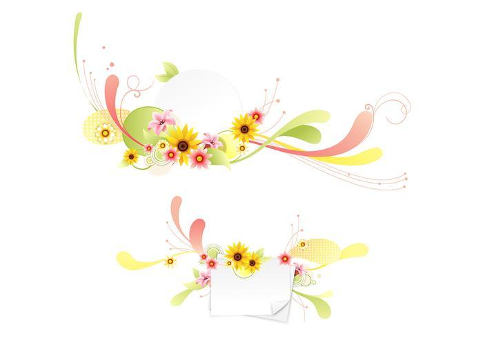 Swirly pack de fond de fleurs