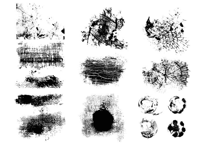 Cracked Grunge Brush Pack