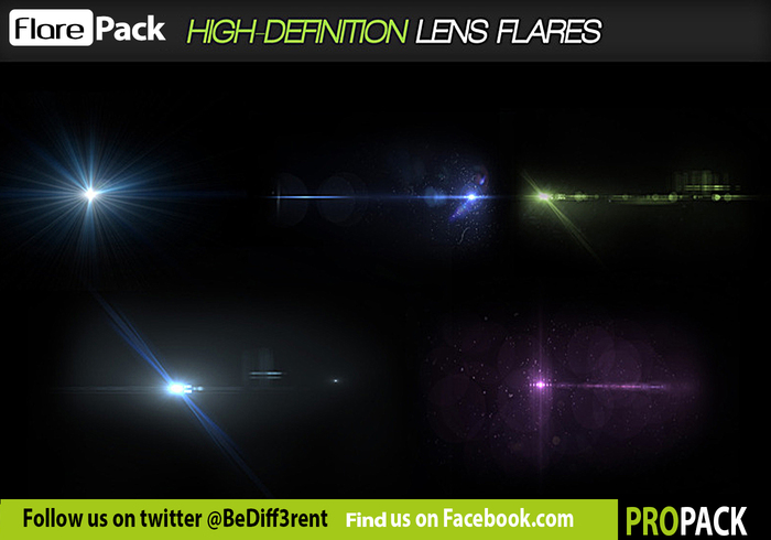 DBD FlarePack LITE - 5 Flare PSD's - Free Photoshop Brushes at