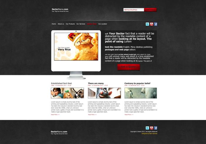 A Creative Portfolio Web PSD