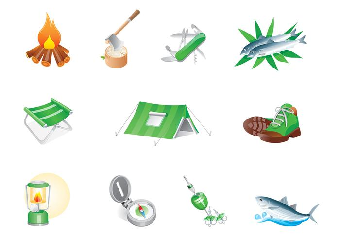 Camp Icon PSD Pack