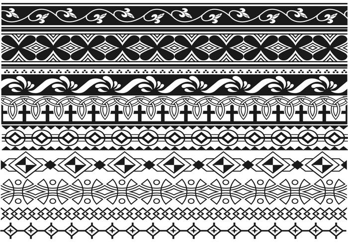 Art Deco Border Brush Pack Two