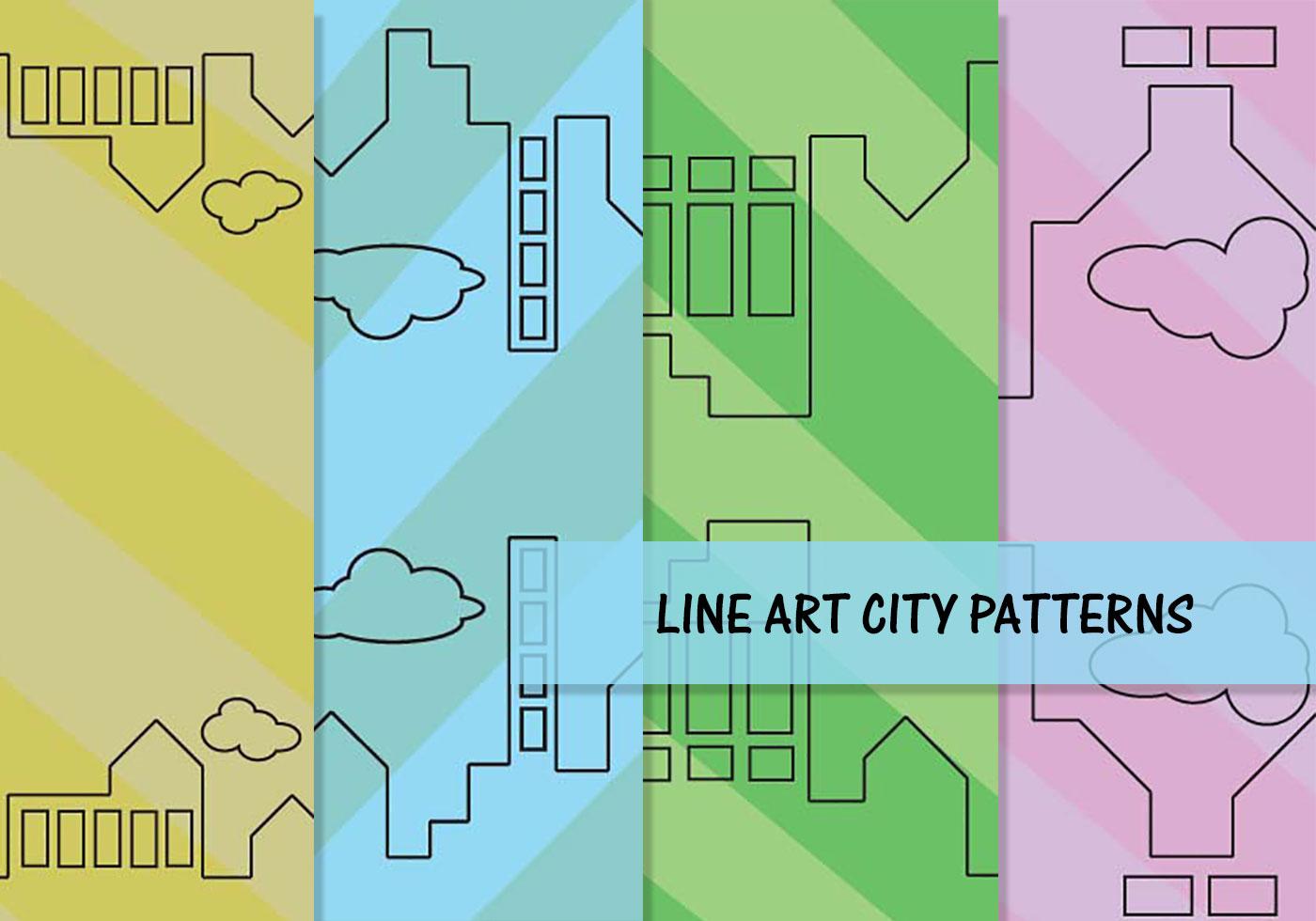 Line Art City : Line art city pattern