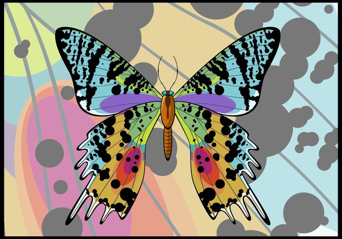 Sunset Moth Butterfly PSD