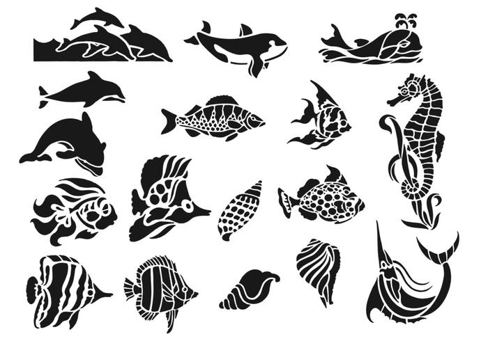 Sea Life Animal brushpack