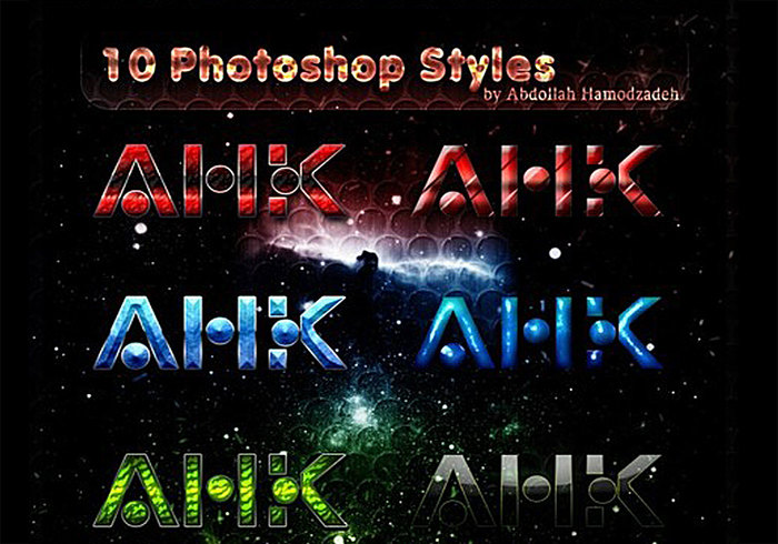 10 Abstract Photoshop Styles