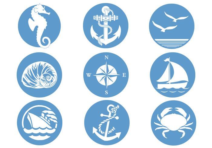 Pacote de escova de símbolos náuticos