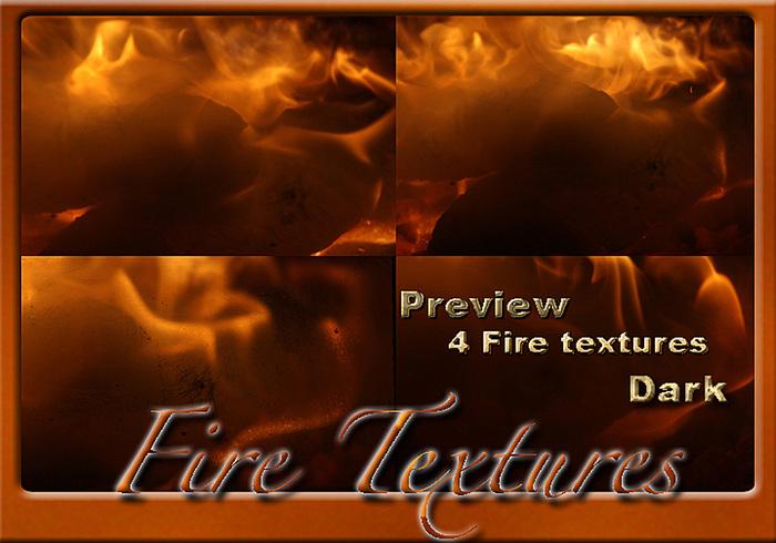 4 Texturas de fuego oscuras