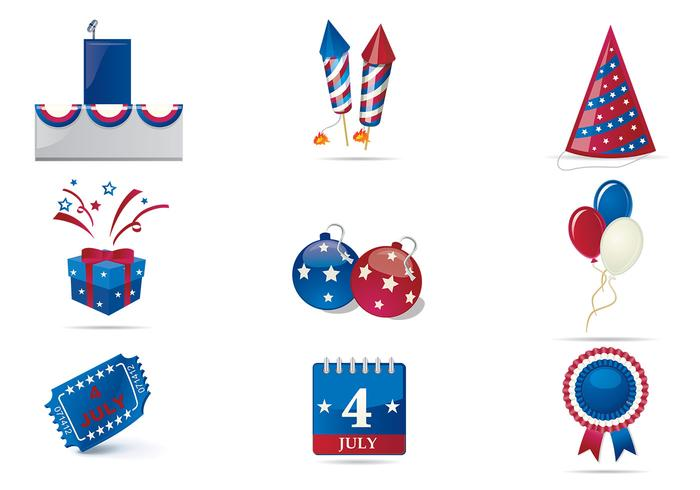 Fourth of July PSD Celebration Pack