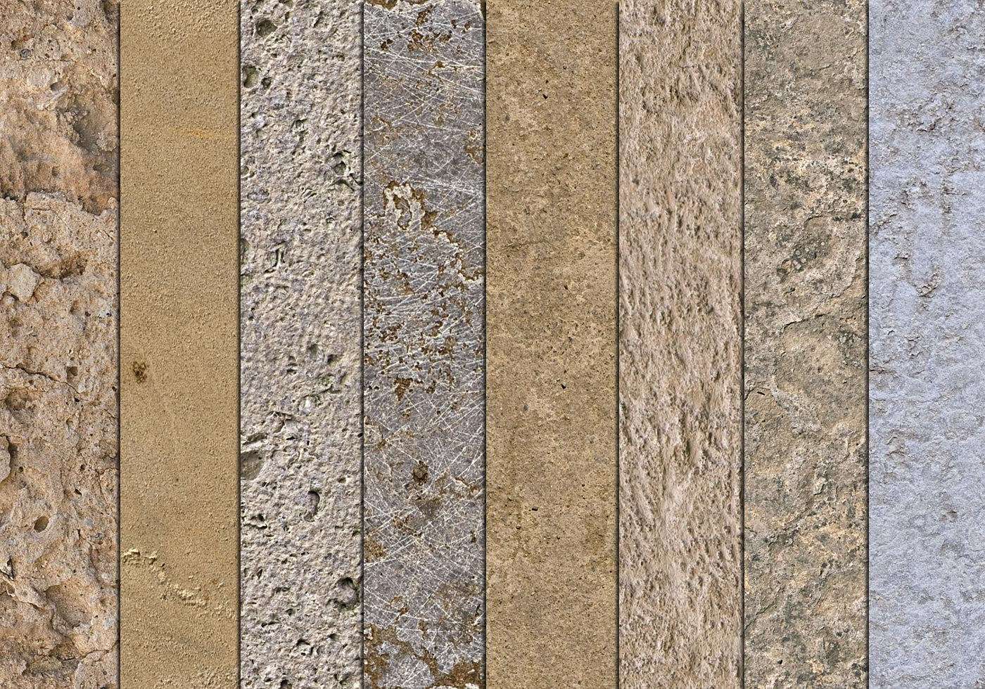 10 Seamless Mixed Stone Textures Free Photoshop Brushes