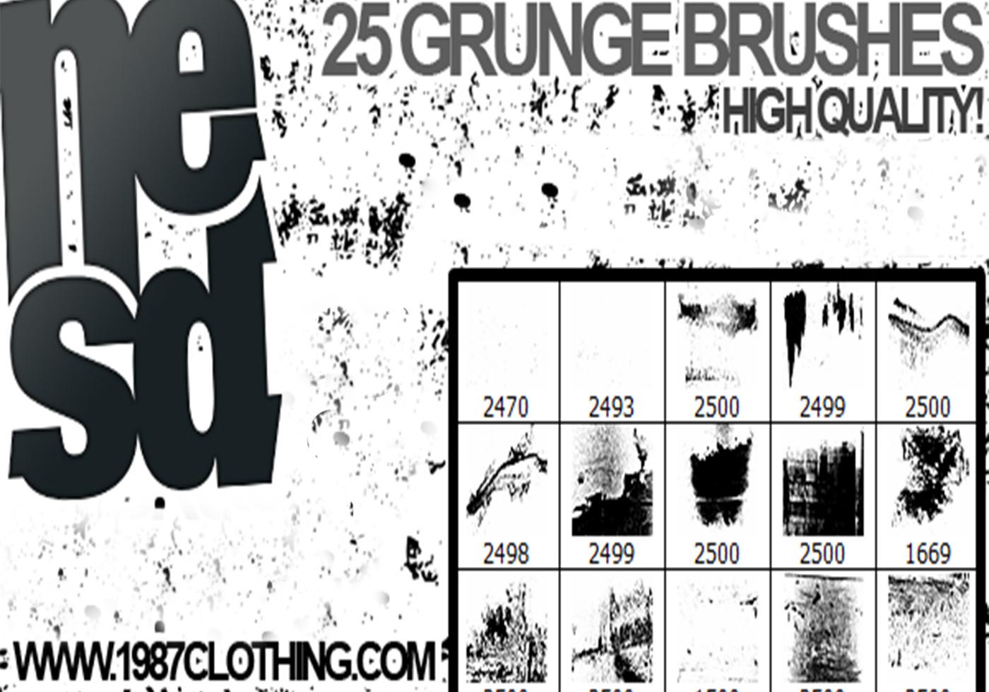 Grunge Brushes Free Photoshop Brushes At Brusheezy