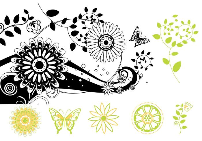 Butterfly Floral Brush Pack