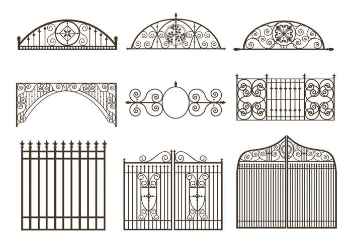 Pacote de escovas Gates and Fences