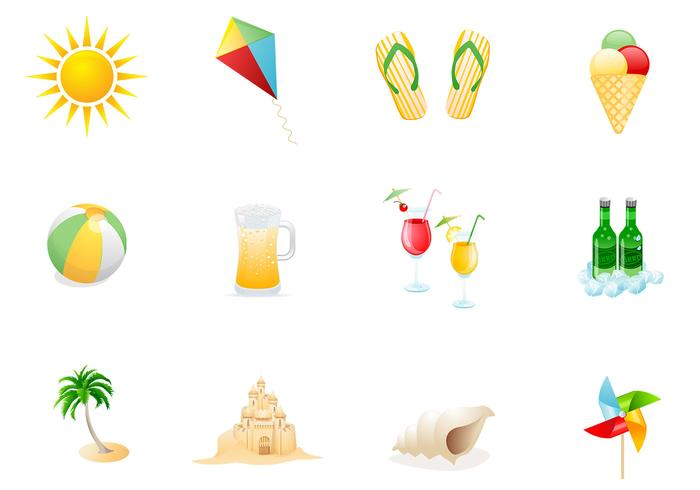 Beach Icons PSD Pack Two