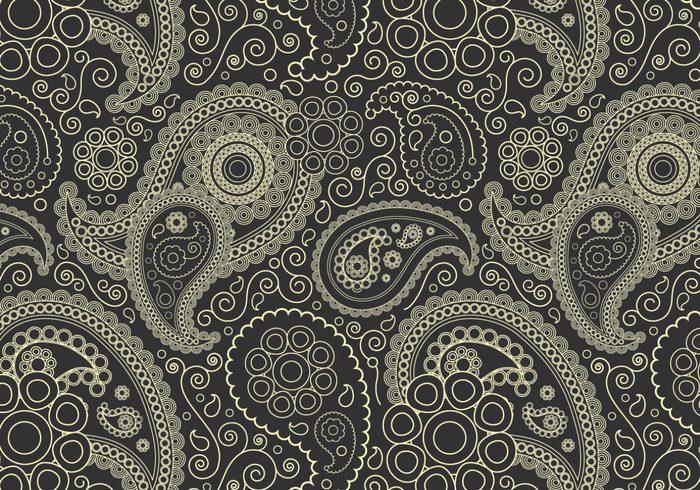 Charcoal Paisley Pattern
