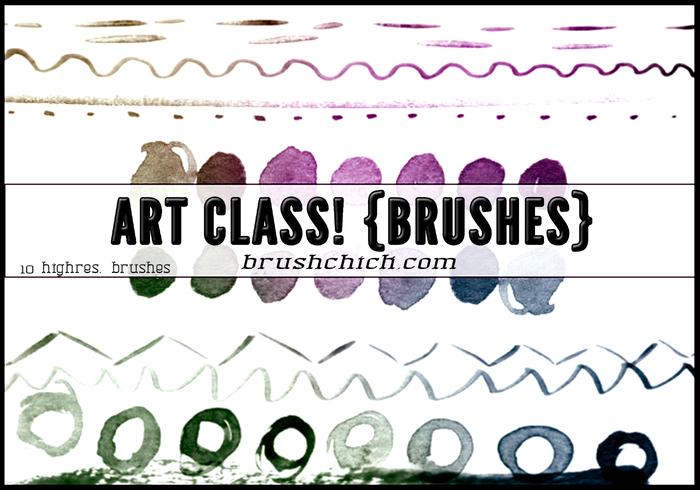 Linhas de aquarela de classe de arte
