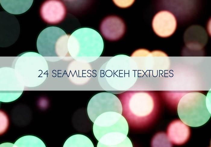 24 texturas sem costura de Bokeh