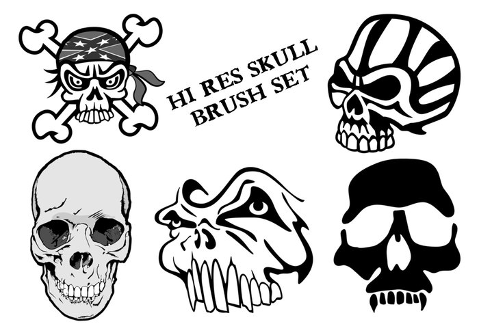 Skull Brushes Photoshop