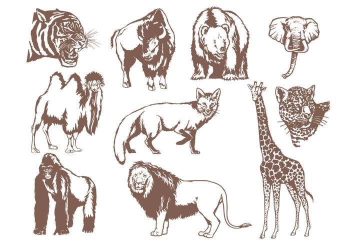 Wild Animals Brush Pack