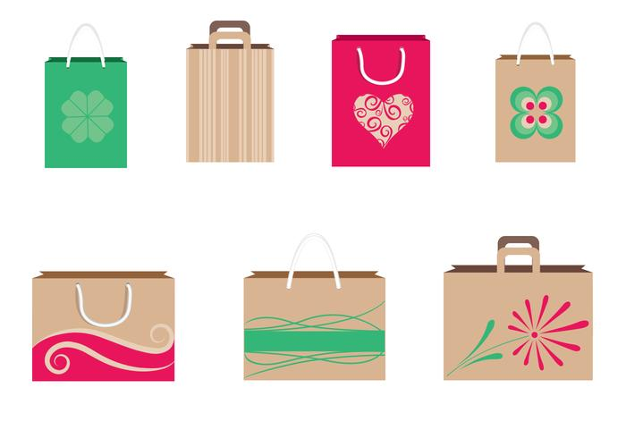 Shopping Bags PSD en PNG Pack