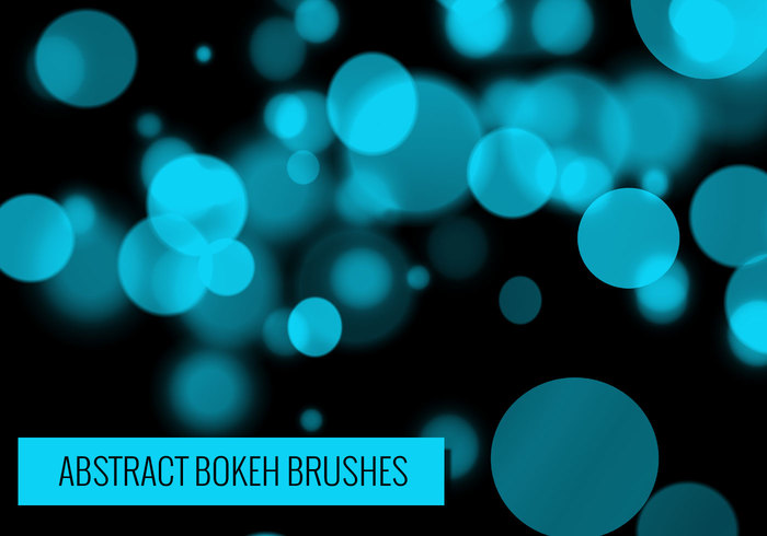 24 brosses Bokeh abstraites